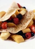 Natriumarm nagerecht: Crèpes met vers fruit.
