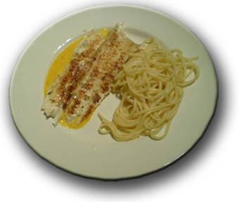 Tongfilet met spaghetti