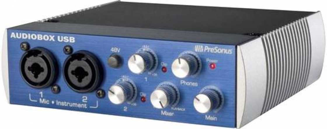 Over Audio interface PreSonus AudioBox USB-interface Incl. software, Monitor-controlling