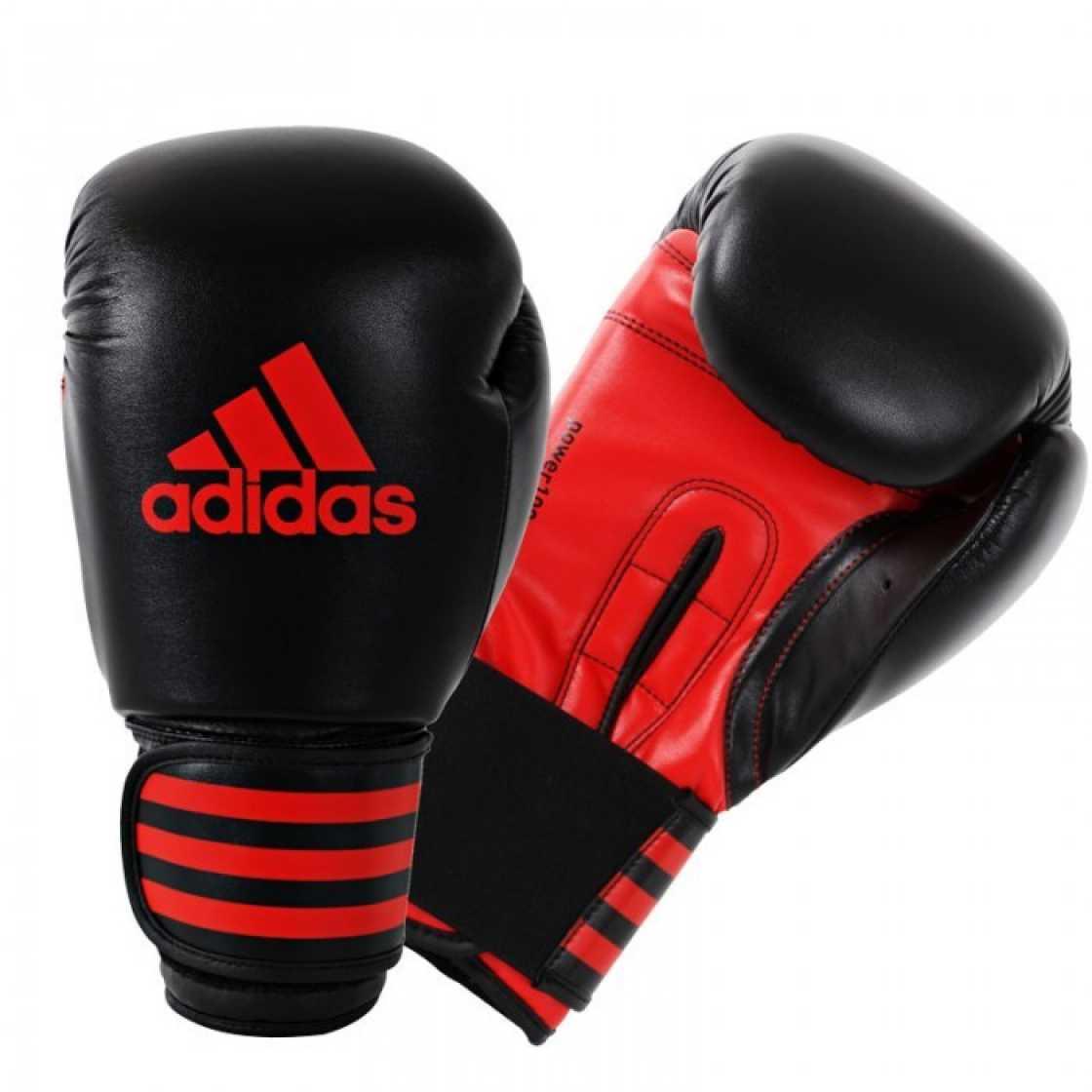 Adidas Power 100 (Kick)Bokshandschoenen - Zwart/Rood